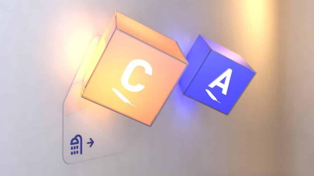 comunicação visual luminoso sinalização COLA design