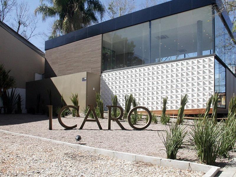 comunicação visual letra caixa aço galvanizado fachada COLA design